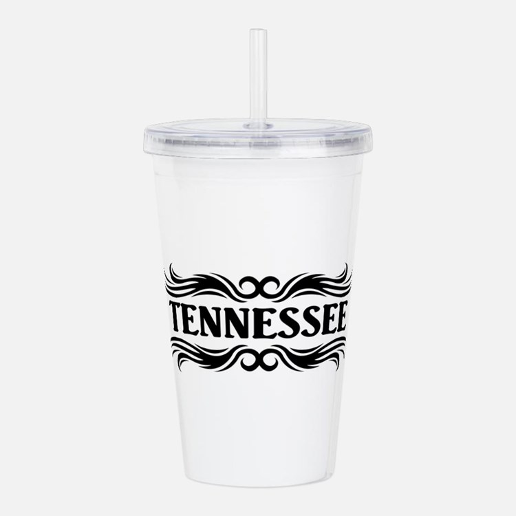 Tribal Tennessee Acrylic Double-wall Tumbler