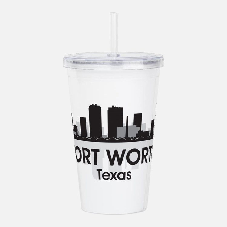 Fort Worth Skyline Acrylic Double-wall Tumbler