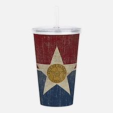 Vintage Dallas Flag Acrylic Double-wall Tumbler