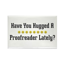 Hugged Proofreader Rectangle Magnet (100 pack)