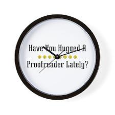 Hugged Proofreader Wall Clock
