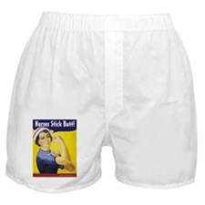Nurses stick butt! Boxer Shorts