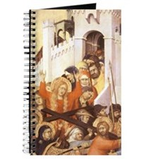 Christ carrying cross to Calvary. Simone M Journal