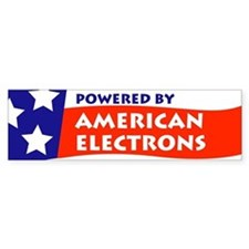 Powered by American Electrons Bumper Bumper Sticker