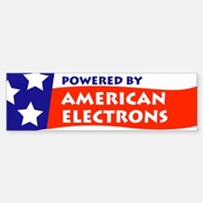 Powered by American Electrons Car Car Sticker