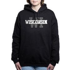 WI Wisconsin Women's Hooded Sweatshirt
