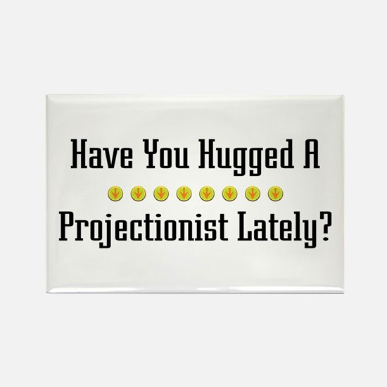 Hugged Projectionist Rectangle Magnet