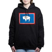 Wyoming Flag Women's Hooded Sweatshirt