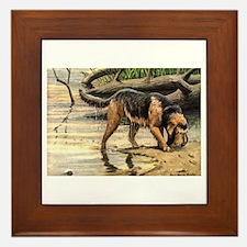 Otterhound Art Framed Tile