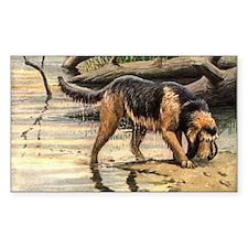 Otterhound Art Rectangle Decal