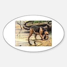 Otterhound Art Oval Decal
