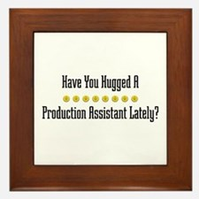 Hugged Production Assistant Framed Tile