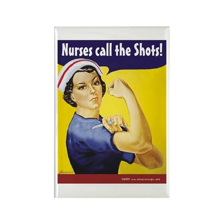 Nurses call the Shots! Rectangle Magnet (100 pack)