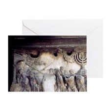 Arch of Titus relief detail, Trophie Greeting Card