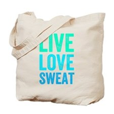 Live Love Sweat Tote Bag