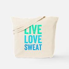 Live Love Sweat Tote Bag