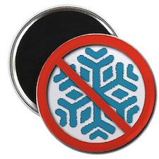 """NO SNOW! 2.25"""" Refrigerator Magnet (100 pack)"""
