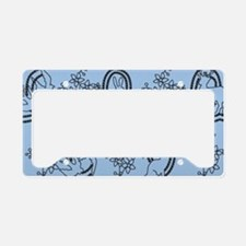 Alice in Wonderland Embroideries License Plate Hol