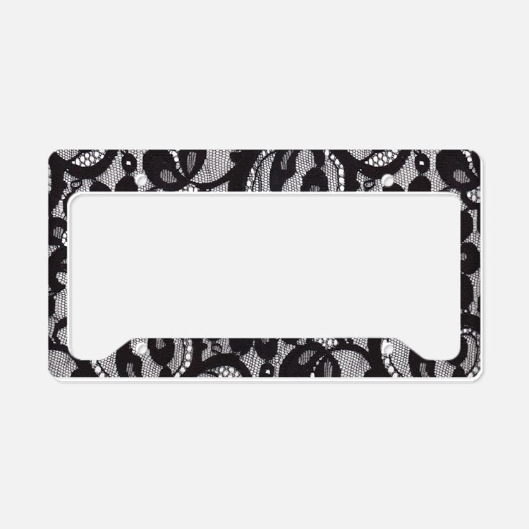 Black Lace License Plate Holder