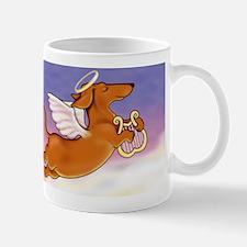 Red Doxie Angel Mug