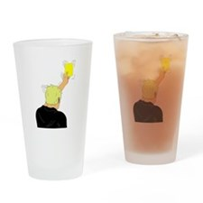 Yellow Card Drinking Glass
