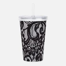 Black Lace Acrylic Double-wall Tumbler