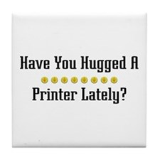 Hugged Printer Tile Coaster