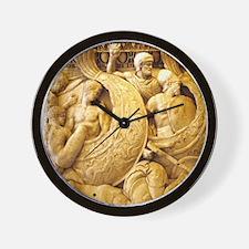 Roman navy battle scene, Sarcophagus re Wall Clock