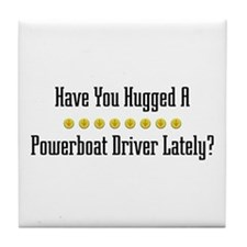 Hugged Powerboat Driver Tile Coaster