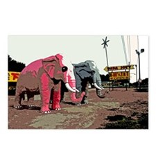Elephants @ Fireworks stand Postcards (Package of