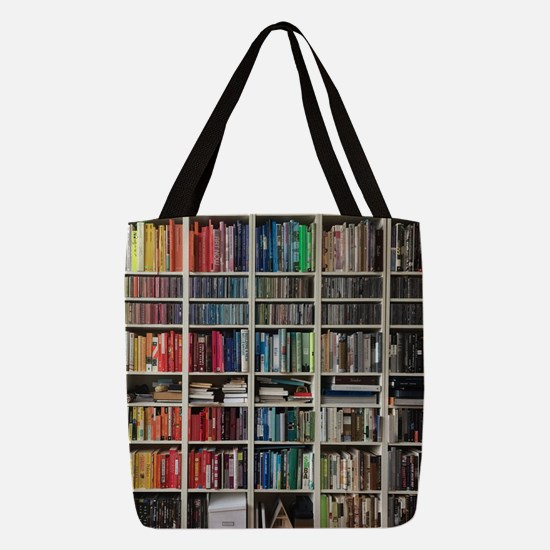 colorful library 2 Polyester Tote Bag
