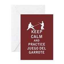 Keep Calm and Practice Juego del garrote Greeting