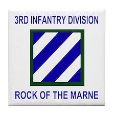 3rd Infantry Division <BR>Tile Coaster