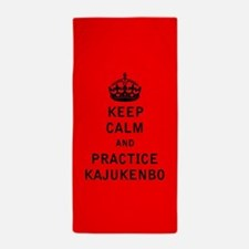 Keep Calm and Practice Kajukenbo Beach Towel