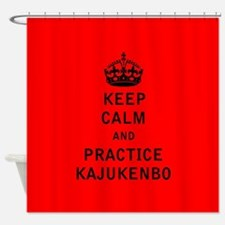 Keep Calm and Practice Kajukenbo Shower Curtain