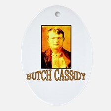 Vintage Butch Cassidy Oval Ornament