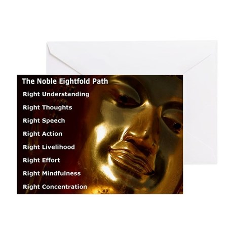 The Noble Eightfold Path Buddha Greeting Cards (6)