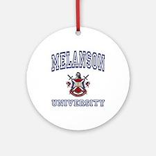 MELANSON University Ornament (Round)