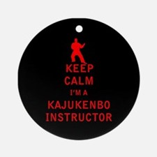 Keep Calm I'm a Kajukenbo Instructor Ornament (Rou