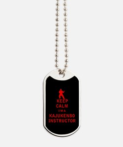 Keep Calm I'm a Kajukenbo Instructor Dog Tags