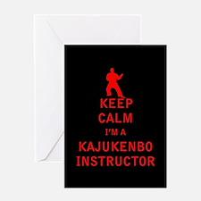 Keep Calm I'm a Kajukenbo Instructor Greeting Card