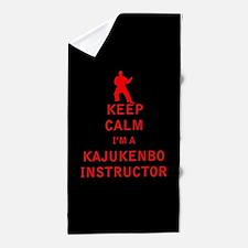 Keep Calm I'm a Kajukenbo Instructor Beach Towel