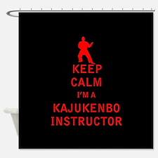 Keep Calm I'm a Kajukenbo Instructor Shower Curtai