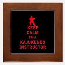 Keep Calm I'm a Kajukenbo Instructor Framed Tile
