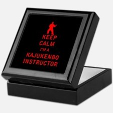 Keep Calm I'm a Kajukenbo Instructor Keepsake Box