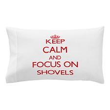 Cute Snow shoveling Pillow Case