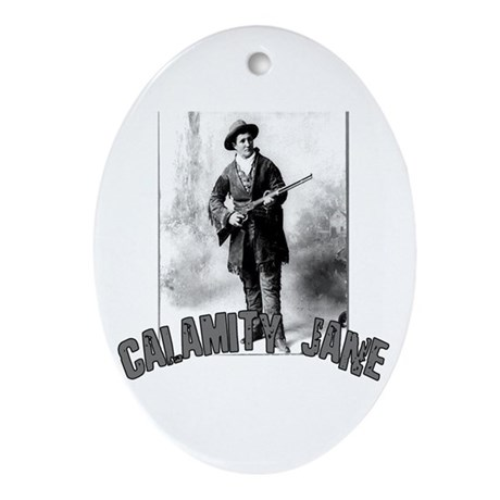 Vintage Calamity Jane Oval Ornament