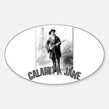 Vintage Calamity Jane Oval Decal