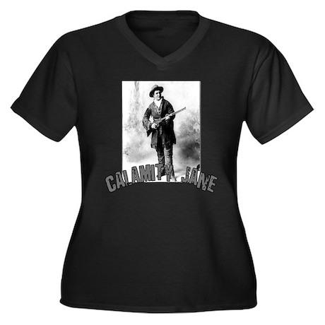 Vintage Calamity Jane Women's Plus Size V-Neck Dar
