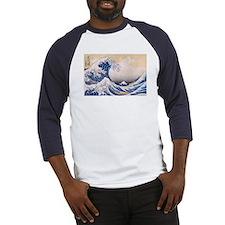 Ukiyoe Hokusai Wave Baseball Jersey